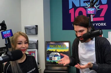 Wengie with Mike Adam at NEW 102.7
