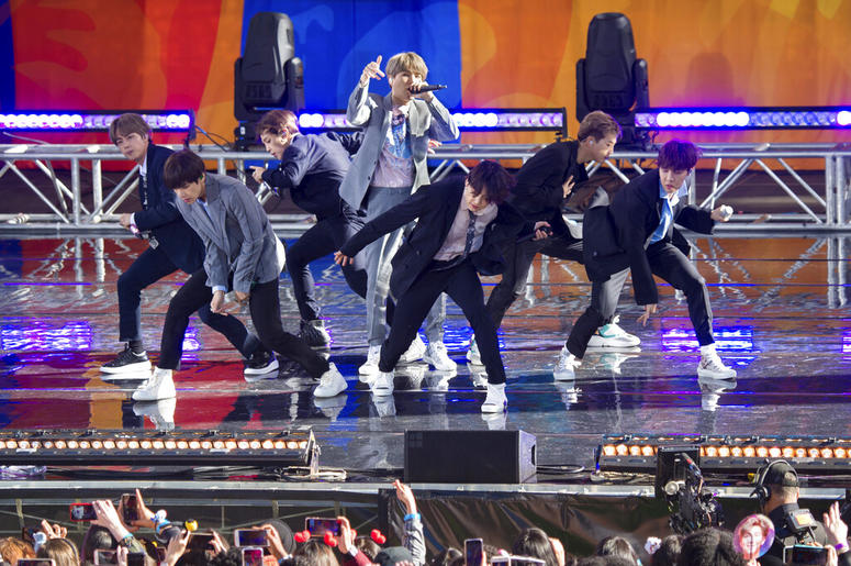 "BTS perform on ABC's ""Good Morning America"