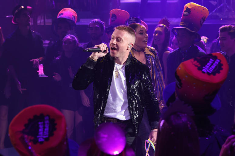 Macklemore performs onstage during Dick Clark's New Year's Rockin' Eve With Ryan Seacrest 2019 on December 31, 2018 in Los Angeles, California