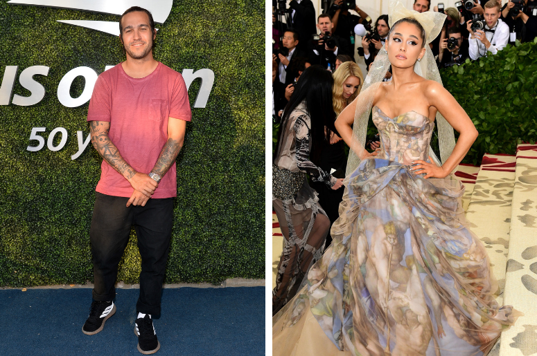 Musician Pete Wentz arrives on Day 4 the 2018 US Open Tennis Tournament at the USTA Billie Jean King National Tennis Center in the New York borough of Queens, on August 30th, 2018. / Ariana Grande, who has received largely positive reviews for her