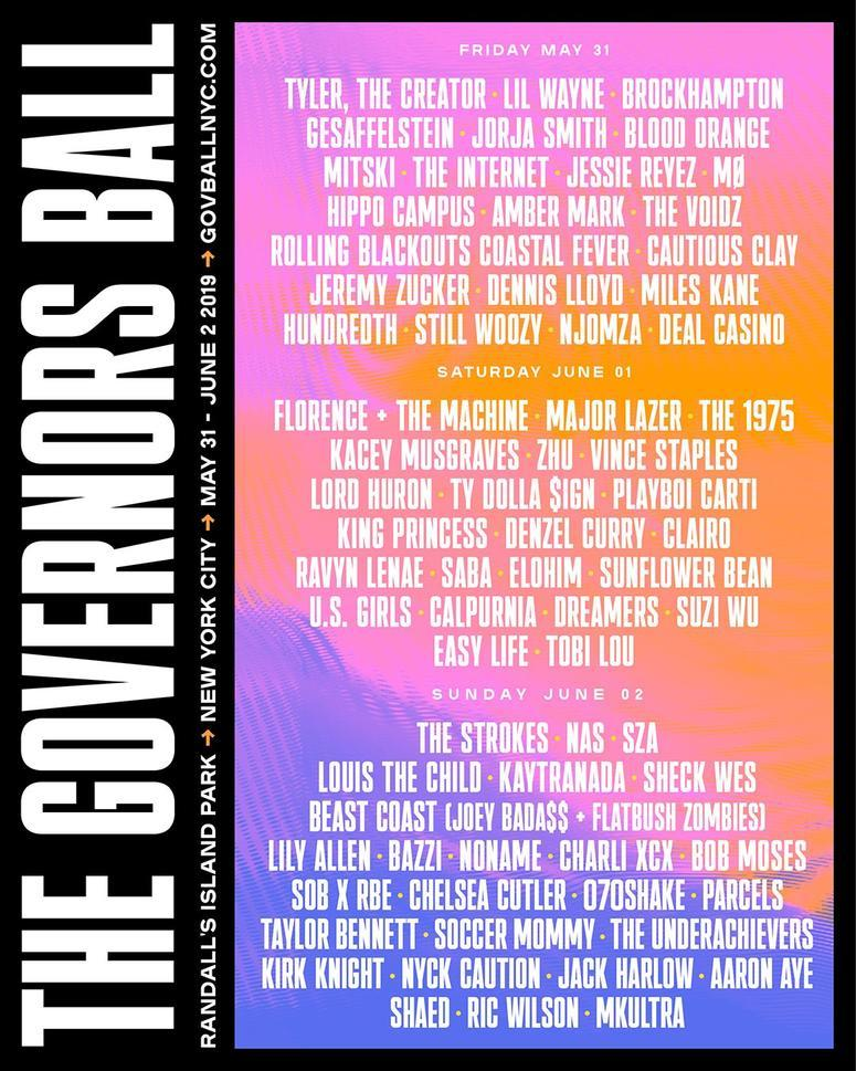 Gov Ball Line Up 2019