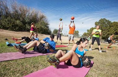 fitness class outside