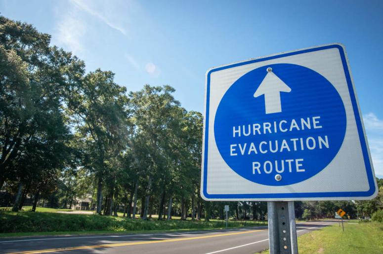 hurricane evacuation sign