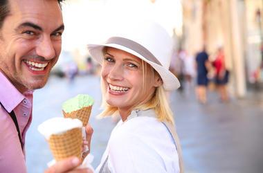 ice cream, melted ice cream