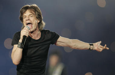 Mick Jagger performs with The Rolling Stones