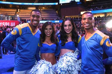 Rams Male Cheerleaders