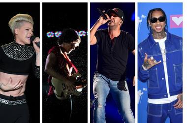 Pink, The Strokes, Luke Bryan, Tyga