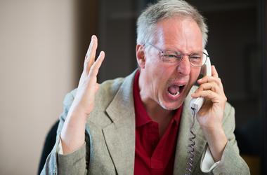 angry caller