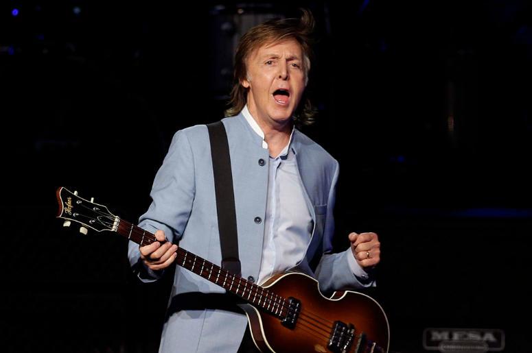 Paul McCartney performs