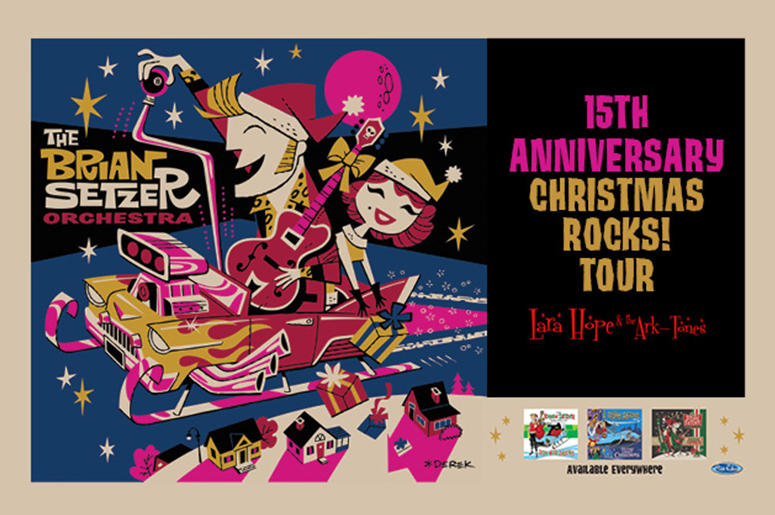 Brian Setzer Christmas.Brian Setzer Orchestra S 15th Anniversary Christmas Rocks