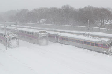 Boston Commuter Rail Snow