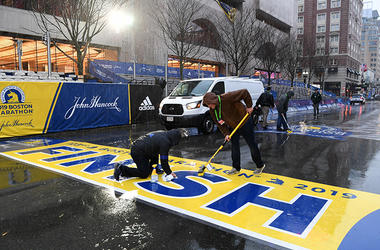 2019 Boston Marathon Finish Line