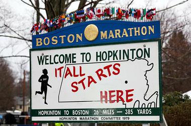 Marathon Start Sign