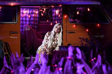 Kesha performs during the 2018 Billboard Music Awards