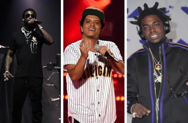 Gucci Mane, Bruno Mars and Kodak Black