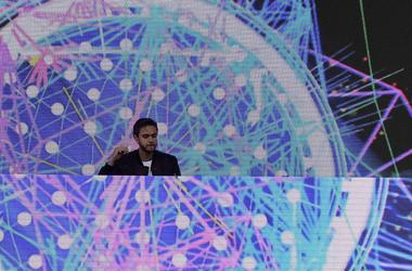 Zedd performs prior to the 142nd running of the Preakness Stakes at Pimlico Race Course