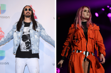 Steve Aoki. 2017 Latin Grammy Photo Room at MGM Grand Garden Arena. /  Kiiara performs at American Airlines Arena.