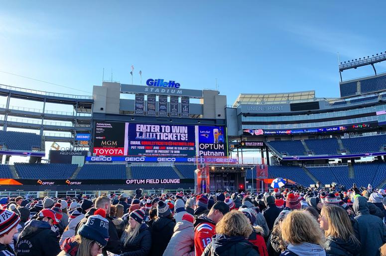 Patriots Sendoff Rally!