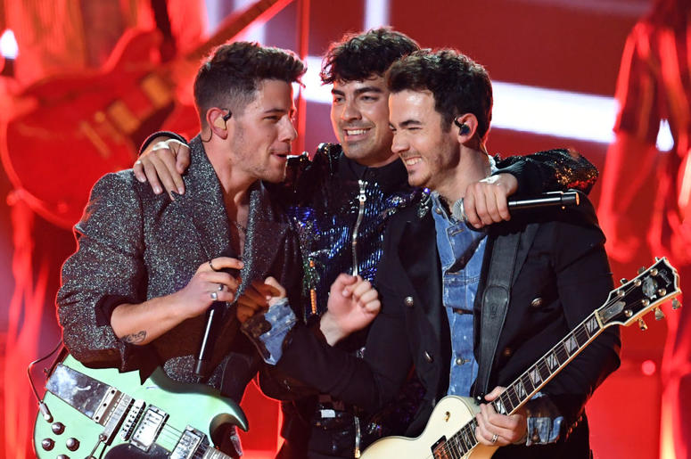 Nick Jonas, Joe Jonas, and Kevin Jonas of Jonas Brothers perform onstage during the 2019 Billboard Music Awards at MGM Grand Garden Arena on May 01, 2019 in Las Vegas, Nevada