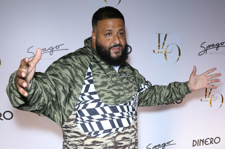 "DJ Khaled. Jennifer Lopez Celebrates Release of New Single ""Dinero"" with Wolfgang Puck During Sneak Peek of the New Spago at Bellagio."