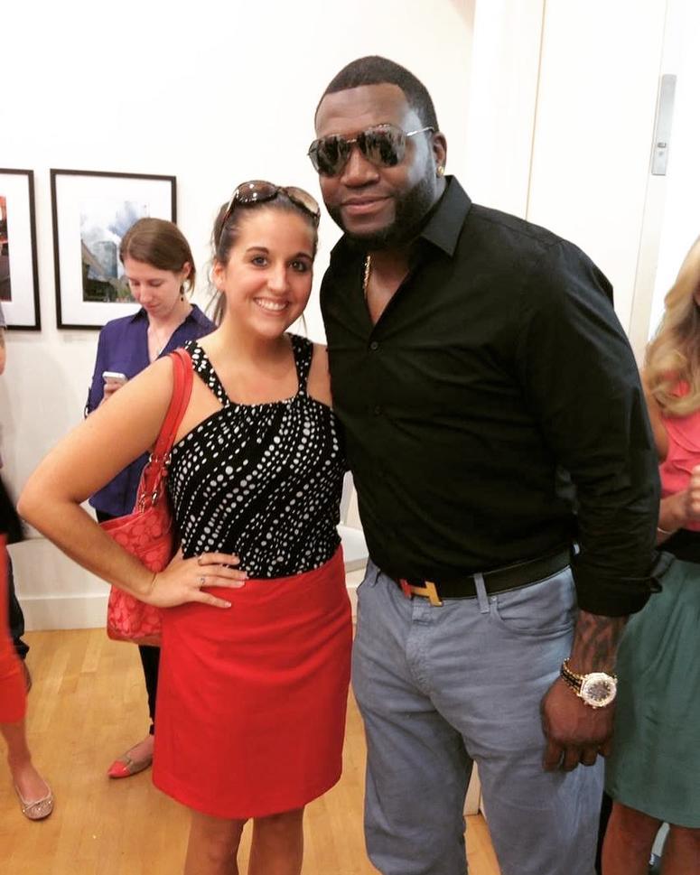 Jillian Scangas with David Ortiz