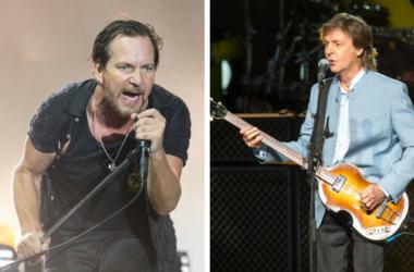 Eddie Vedder and Paul McCartney
