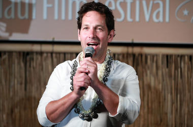 Paul Rudd speaks onstage after receiving The Nova Award at the 2019 Maui Film Festival on June 12, 2019 in Wailea, Hawaii.