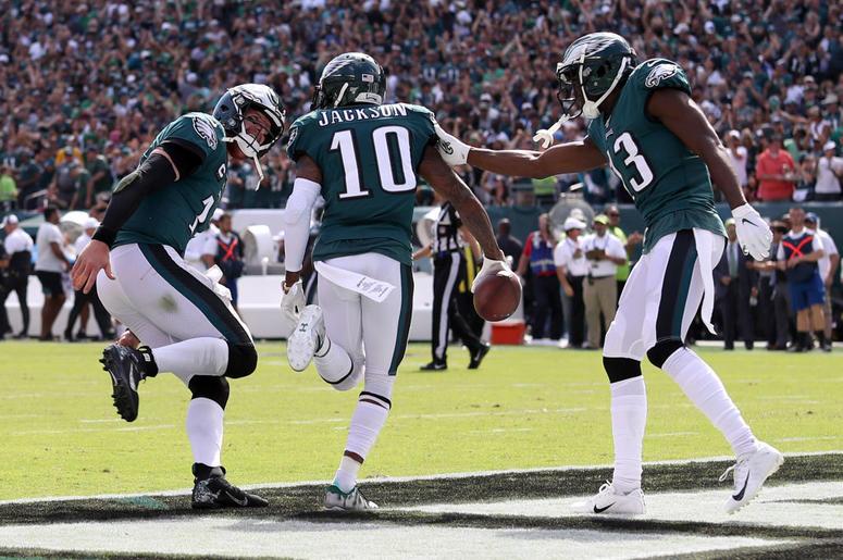 photo relating to Philadelphia Eagles Printable Schedule identify DeSean Jackson Rankings Initial Touchdown Philadelphia Eagles