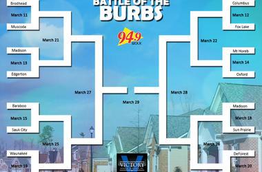 LISTEN: Battle of the Burbs Final Four Round 1!  Apryl from Edgerton VS Scott of Wisconsin Dells
