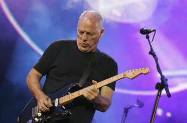 Dave Gilmour from the band Pink Floyd on stage at 'Live 8 London'