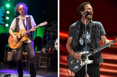 Mike Campbell and Eddie Vedder