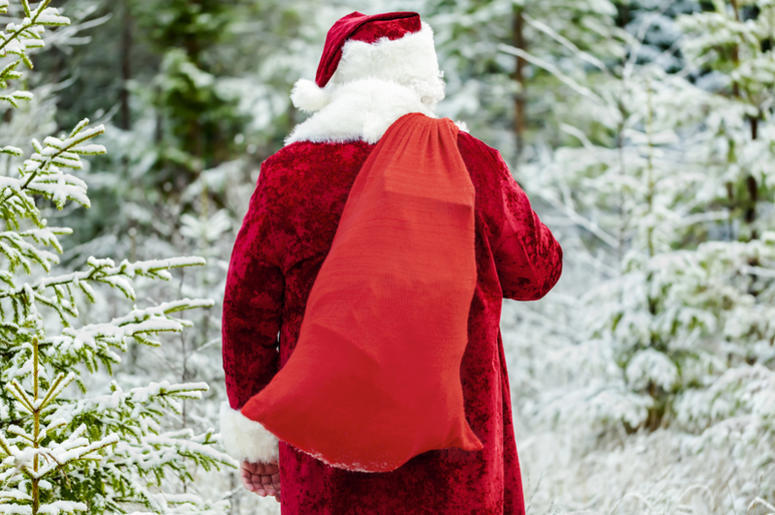 """Day 10: Jolly Jim's Sack is Overflowing for Our 12 Days of Christmas Giving! What """"gift"""" did Jonathan Maier of Mt. Horeb find in there?"""