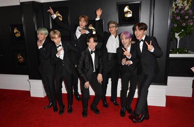 Jin, Suga, J-Hope, RM, Jimin, V, Jungkook, BTS. 61st Annual GRAMMY Awards held at Staples Center