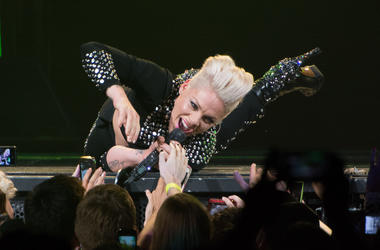 P!nk performs at Barclays Center on December 8, 2013 in New York, New York.