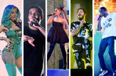 Cardi B, Drake, Ariana Grande, Post Malone, Travis Scott