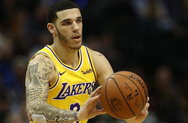 Lonzo Ball typically covers his Big Baller Brand tat while playing. Now the cover up is permanent.