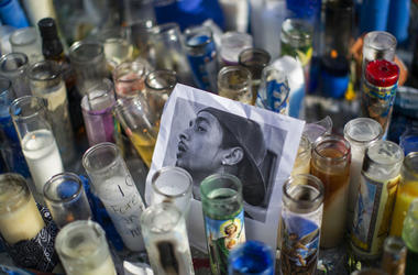 Fans gather to pay tribute to the late rapper Nipsey Hussle.