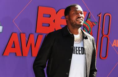Meek Mill attends the 2018 BET Awards