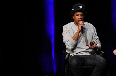 """Shawn """"Jay-Z"""" Carter speaks onstage during the launch of The Reform Alliance at John Jay College on January 23, 2019 in New York City"""