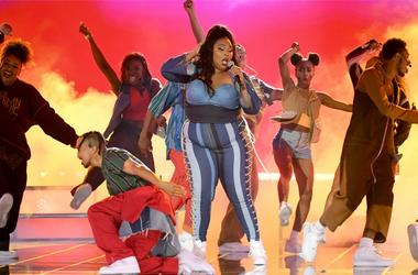 Lizzo performs onstage during the 2019 MTV Movie and TV Awards