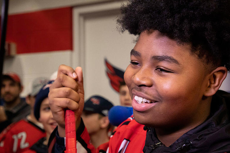 Capitals unite with youth hockey team to combat racism