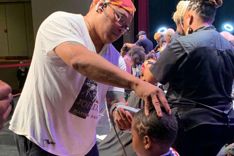 We helped kids in the DMV get ready for school at our annual Community Cuts for Kids event.