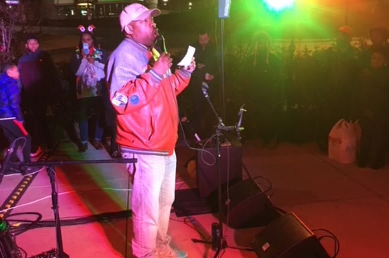 DJ Flexx came through for the Tree Lighting at Rhode Island Row