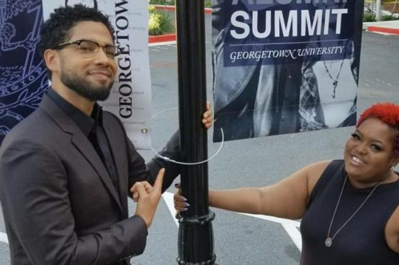Jussie Smollett and Poet Taylor