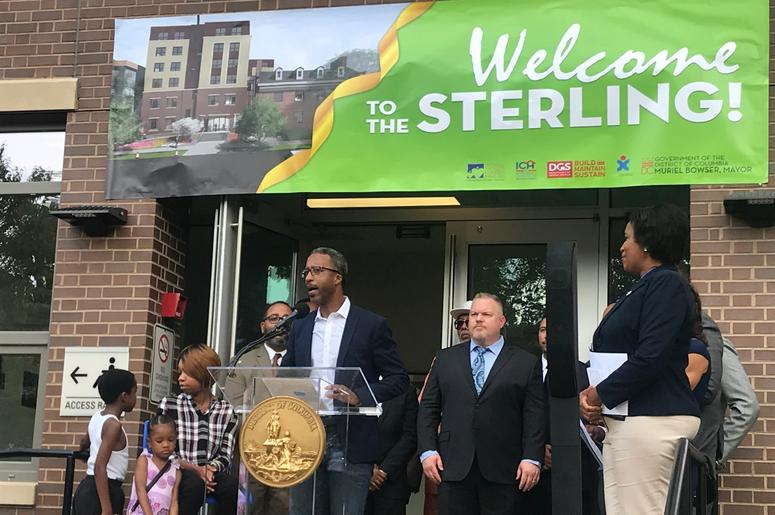 Mayor Muriel Bowser cut the ribbon on a brand new Ward 5 short-term family housing facility The Sterling.