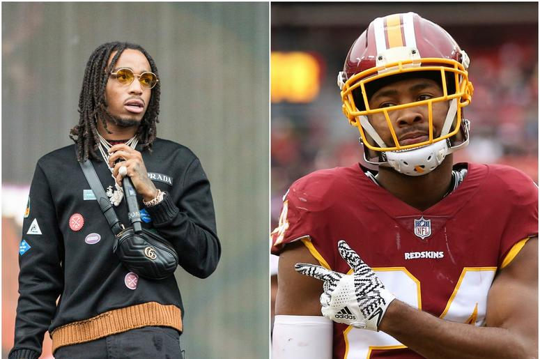 78ccc8aa3 PHOTO: Quavo and Josh Norman Face Off in Charity Football Game | WPGC