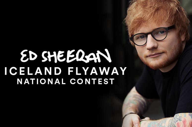 Meet Ed Sheeran! Enter to win a Trip to Reykjavik, Iceland!