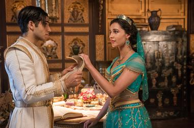 Mena Massoud is Aladdin and Naomi Scott is Jasmine in Disney's live-action ALADDIN, directed by Guy Ritchie.