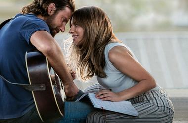 """This image released by Warner Bros. Pictures shows Bradley Cooper, left, and Lady Gaga in a scene from """"A Star is Born."""" The film is nominated for an Oscar for best picture. The 91st Academy Awards will be held on Sunday. (Warner Bros. Pictures via AP, Fi"""