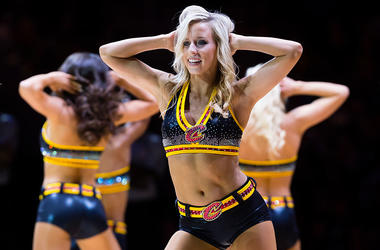 CLEVELAND, OH - JANUARY 21: The Cavaliers Girls dance team dance during the first half during the game against the San Antonio Spurs at Quicken Loans Arena on January 21, 2017 in Cleveland, Ohio. NOTE TO USER: User expressly acknowledges and agrees that,